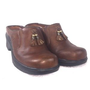 Ariat Brown Leather Mules